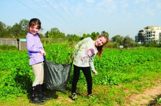 טו בשבט בחווה בתל אביב
