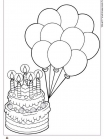 עוגה ובלונים