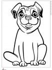 דף צביעה כלב מחייך